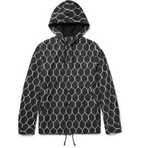 Undercover Printed Shell Hooded Jacket Black