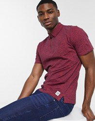 Tom Tailor Polo Shirt With Fine Stripes Red