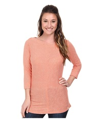 Woolrich Lakeside 3 4 Sleeve Knit Top Guava Women's Long Sleeve Pullover Pink