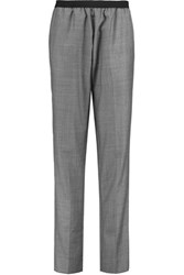 Joseph Marty Wool Straight Leg Pants Gray
