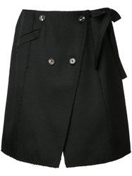 Proenza Schouler Double Breasted Skirt Black
