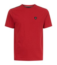 Armani Ea7 Reflective Detail T Shirt Male Red