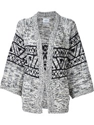 Obey Knitted Cardigan White