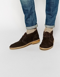 Selected Homme Leon Suede Desert Boots Brown
