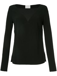 Dion Lee Lace Tile Long Sleeve Blouse Black