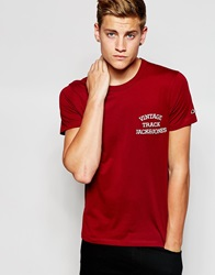 Jack And Jones Jack And Jones Classic Track And Field Crew Neck T Shirt Red