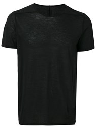 Rick Owens Drkshdw Fitted Crewneck T Shirt Black