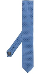 Dolce And Gabbana Micro Pattern Tie Blue