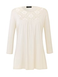 Grace Made In Britain Lace Panel Tunic Cream