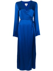 Jovonna Celton Maxi Wrap Dress Blue