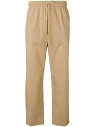 Kenzo Cropped Tapered Trousers Neutrals