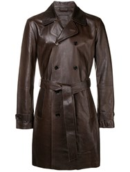 Desa 1972 Double Breasted Coat Brown