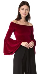 Torn By Ronny Kobo Mimi Crop Top Ruby