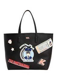 Karl Lagerfeld Jet Fly With Faux Leather Tote Bag