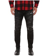 Rustic Dime Biker Denim In Road Camo Road Camo Men's Jeans Black