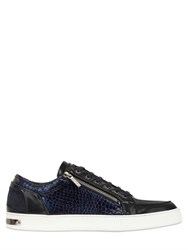Botticelli Sport Limited Crocodile Embossed Leather Sneakers