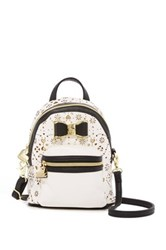 Betsey Johnson Laser Cut Backpack Crossbody Black