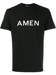 Amen Printed Logo T Shirt Black