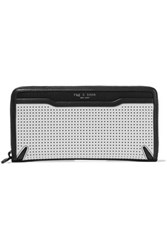 Rag And Bone Crosby Perforated Smooth Leather Continental Wallet White