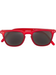 See Concept Square Shaped Sunglasses Red