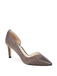 Cole Haan Leather Point Toe D'orsay Pumps Storm