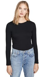 Club Monaco Carolena Long Sleeve Tee Black