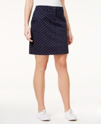 Karen Scott Dot Print Skort Only At Macy's Intrepid Blue Combo