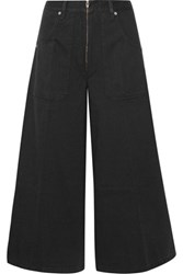 Marc Jacobs Cropped High Rise Wide Leg Jeans Black