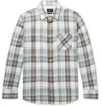 Rag And Bone Fit 3 Beach Checked Double Faced Cotton Shirt Green