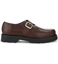 Sandro Primitive Leather Derby Shoes Brown