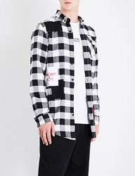 Boy London 1976 Checked Regular Fit Cotton Flannel Shirt Black White