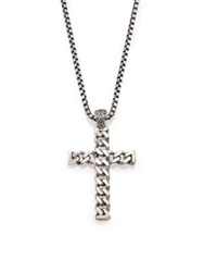 John Hardy Classic Chain And Cross Necklace Silver