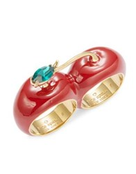 Kate Spade Cherry Double Ring Red