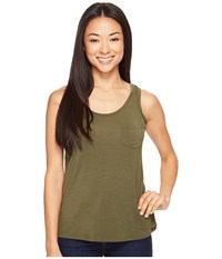 Prana Foundation Scoop Neck Tank Top Cargo Green Women's Sleeveless