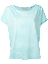 Faith Connexion Distressed T Shirt Women Cotton M Blue