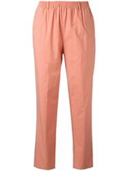 Forte Forte Cropped Trousers Yellow Orange