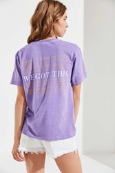 Urban Outfitters We Got This Tee Lavender