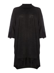 Crea Concept Roll Neck Poncho Charcoal