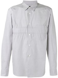 Comme Des Garcons Homme Plus Gathered Detail Shirt Men Cotton L Grey