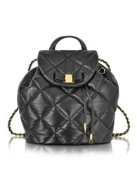 Salvatore Ferragamo Large Black Quilted Leather Vara Backpack