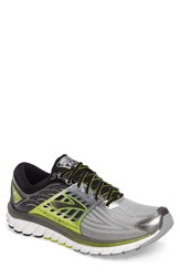 Brooks Men's 'Glycerin 14' Running Shoe Silver Black Lime Punch
