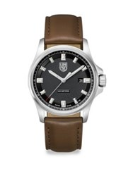 Luminox Illuminated 24 7 Collection Leather Strap Watch Brown