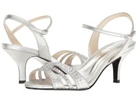 Caparros Gemini Silver Metallic Fabric Women's Dress Sandals