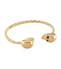Alexander Mcqueen Twin Skull Bangle Female