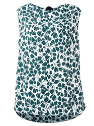 Marni Sleeveless Printed Blouse Green