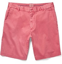 Faherty Slim Fit Stretch Cotton Chino Shorts Red
