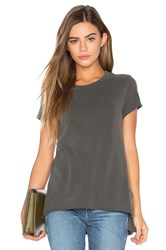 Wilt Shrunken Side Slit Tee Charcoal