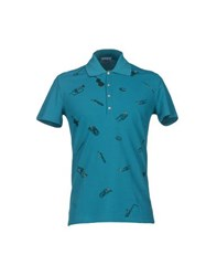 Iceberg Topwear Polo Shirts Men Deep Jade