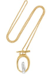 Charlotte Chesnais Turtle Gold Vermeil And Silver Necklace One Size