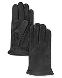 The Men's Store At Bloomingdale's Cashmere Lined Leather Gloves Black
